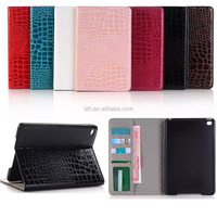Alligator Pattern Wallet Flip cover for Apple iPad mini 4 with stand functions
