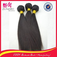 Grade 6A double wefts tangle free 100% unprocessed human virgin hair peruvian straight hair