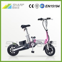 Factory price low cost 12 inch fast foldable adult bicicleta electrica with battery