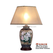 China peony table lamp in porcelain