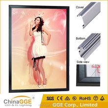 Black aluminum profile A4, A3, A2, A1, A0, B2, B1 led lighting board with high luminance for advertising