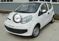 Mini Electric Car 4 wheel drive - public enterprise series for sale,high speed with whole meta body with 4 door 4 seater