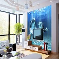 Guangzhou Sea world dolphins designs Wallpaper Mural 3D