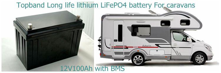 caravan battery 12V 100AH
