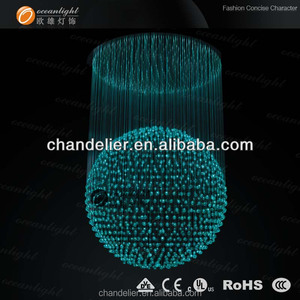 الإضاءة الحديثة الثريا الكريستال مع تحكم عن بعد اللون changeble