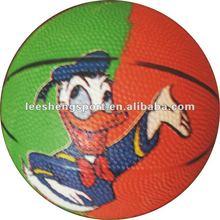 2# mini rubber colorful basketball