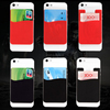 Removable promotional 3M Sticker Smart Mobile phone credit card holder case for Cards, Cash, ID Card