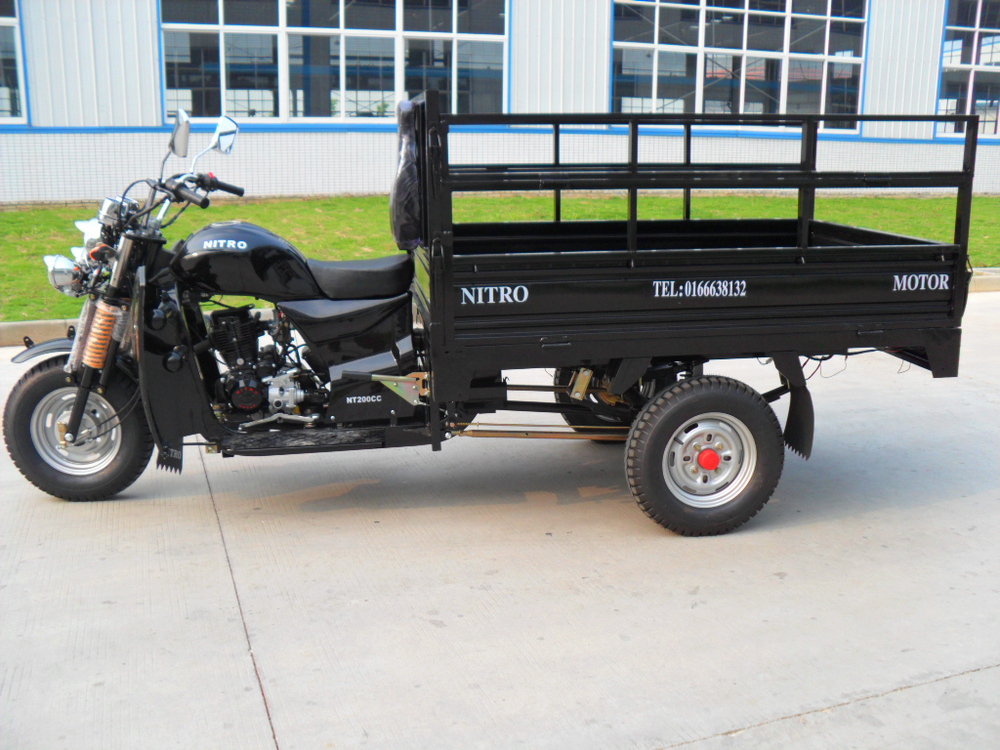 Chinese manufacturer of 150cc high quality cargo three wheel motorcycle