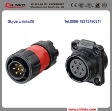 Bulkhead connector cnlinko 7 pin waterproof gm electrical connectors