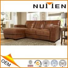 Most popular modern luxury genuine leather sofa