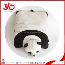 2015 best products plush panda toys pillow, cute panda animal cushion stuffed pillow