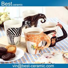 cute animal designs 3d ceramic coffee mug