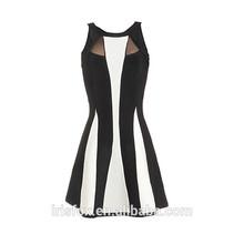 de alta moda en blanco y negro las tiras de ropa para mujer para la fiesta