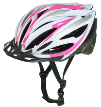 adults out-mold mountain bicycle helmet with visor, girls cycle helmet with different colors