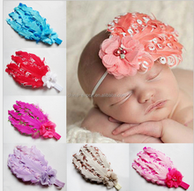 JPQ57Hot Sale Baby Girl Kids Infant Peacock Feather baby Headband 2015