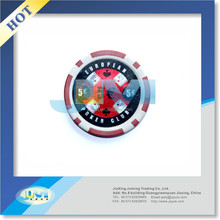 14g Three-Tone clay Monte Carlo poker chips/Casino poker chips/real clay poker chips