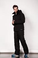 Nylon face Brand mens geometric figure Winter waterproof snowboard jacket mens ski jacket snow parka in north american
