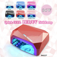 40237X CANNI Professional CCFL UV/LED Nail Lamp, 36W Nail Dry Machine, 6 Color Gel Curing Lamp