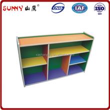 Colors design play school furniture wood kids bookcase