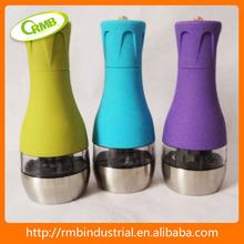 De plástico y acero inoxidable para sal y pimienta juego de molinillos