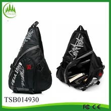 2014 new arrival wholesale black polyester men chest pack bag