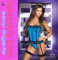 abrir imágenes sexo mujer sexy ropa interior modeladora de cintura ropa interior tramo lycra azul apretado cordón up corset