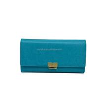 Genuine leather lady wallet money bag