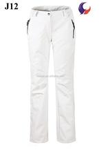 Outdoor Waterproof Hiking Walking Trousers Lightweight Pants for Women white J12