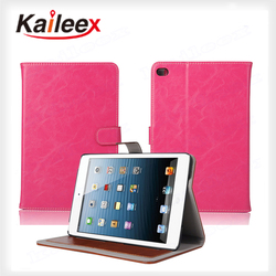 Cheap Price Flip Down Leather Case For Ipad mini4 Crazy Horse Pattern Leather Case