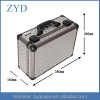 Professional Silver Aluminum Makeup Case With Lights, Easy Carrying Aluminum Lights Case With Mirror ZYD-HZ120502