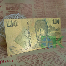 Hot Australia Style Product/Old Version Colorful 100 AUD One Hundred Australian Dollars Gold Foil Banknote