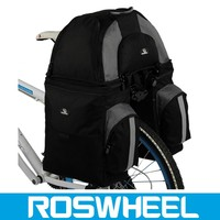 Wholesale 3 in 1 bicycle pannier bags with free rain cover brown leather saddle bags