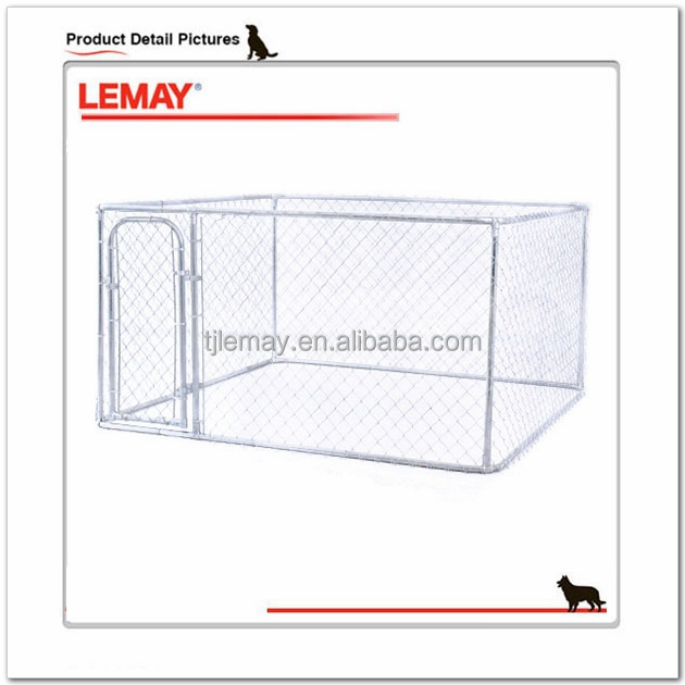 7.5X7.5X4 foot outdoor large metal pet cage dog