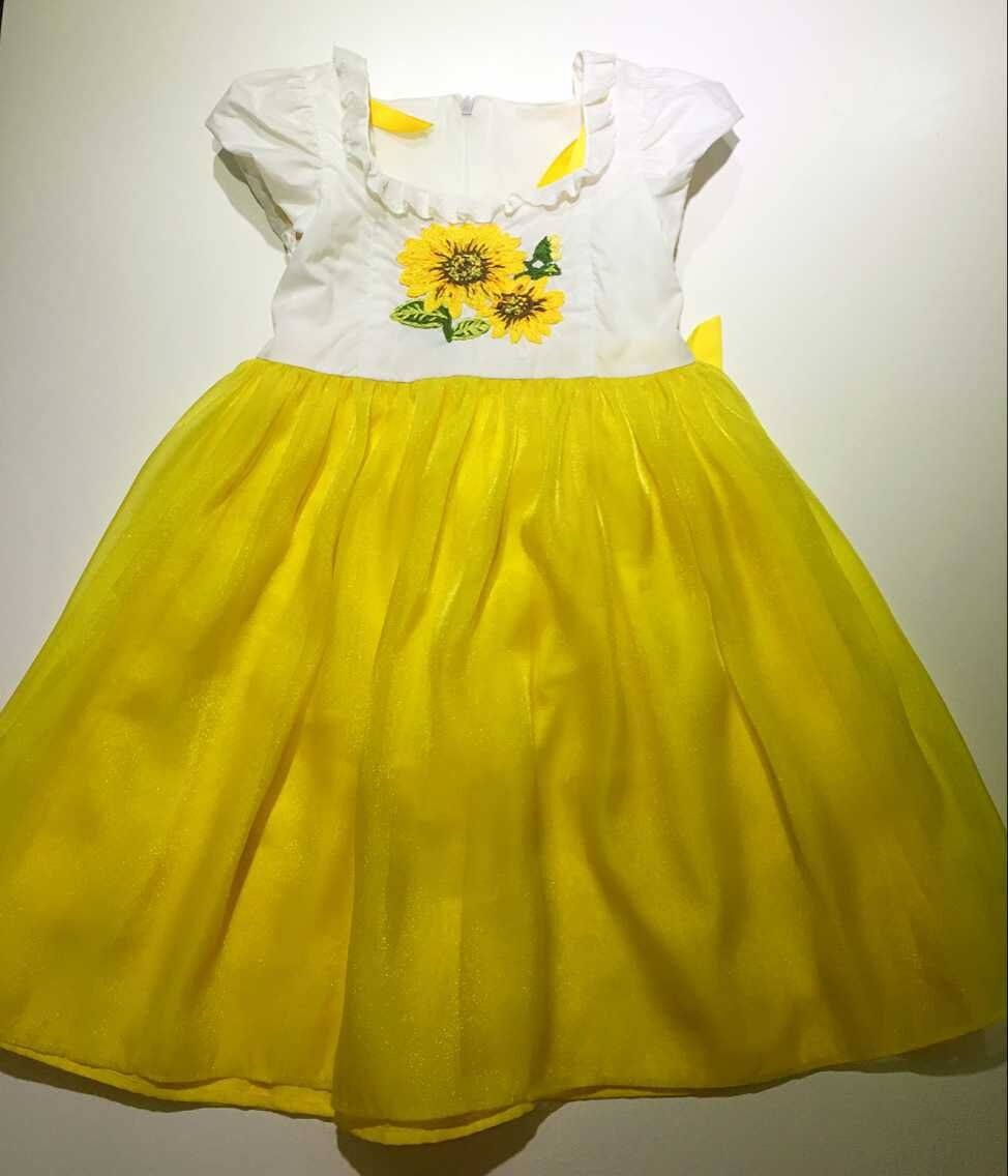 2015 New Design Girls Sun Flower Hand Embroidery Dress Buy 2015