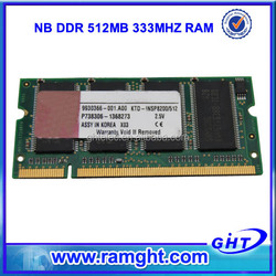 Bulk stock cheap all tested ddr 333mhz ram 512mb memory for laptop