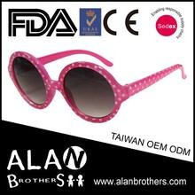Kids Vogue OEM Pink Polka Dot Round Frame Eye Glasses Sun