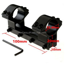 High Quality Metal Tactical Hunting Rail Mount Rifle Scope Mounts Overall Long Type Ring Diameter 25.4mm Length 100mm GA05