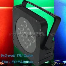 9x3W LED Slim Par Can RGB 3in1 DMX Light DJ Club Lighting Color decoration for bars