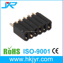 Male gender square 6 pin male header 2.54mm pitch connector square pin header DIP type