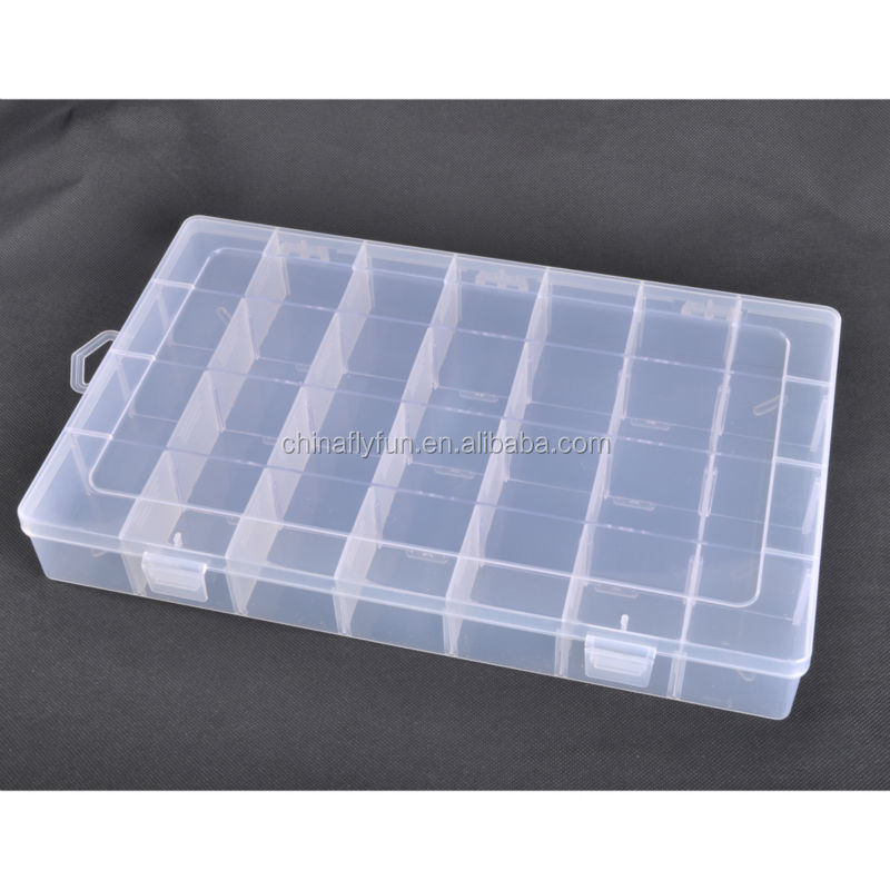 Wholesale 28 grid box plastic case craft jewelry display for Plastic grid sheets crafts