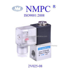 Made in China, zero pressure solenoid valve 2v025-06,core size:G1/8 NPT or PT ,BSPP/ 2 port /air,water,oil/12,24 ,110,220 dc /ac
