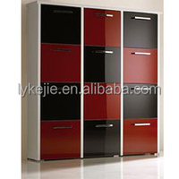 Shoe Rack Simple Designs Large Metal Mirrored Shoe Cabinet Fashion Style Shoe Cabinet with 3 drawer