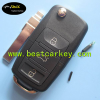 Excellent 3 button 433Mhz, ID48 chip 1jo 959 753 DA car key for vw remote key