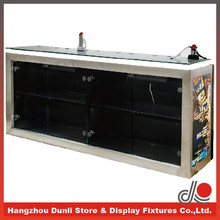 Customised stainless steel table for electronics shop display furniture for cell phone retailers
