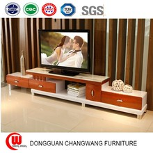 Simple modern telescopic TV cabinet glass paint TV cabinet and white champagne models set TV cabinet