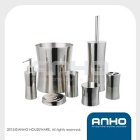 7pcs S/S metal household polishing bathroom accessories
