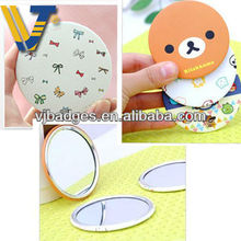 custom novelty decorative round compact mirrors wholesale