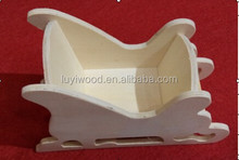 Hot Sale and Cheap Price Unfinished Wooden Mini Sled Toy For Kids Promotional Gifts