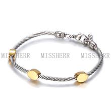 El mejor regalo para los niños hechas en porcelana pulseras de cuero NSB566STWGG