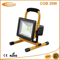 180 days FREE Replacement ! outdoor 20W rechargeable portable led flood light 8800mA Lithium Battery DC 12v